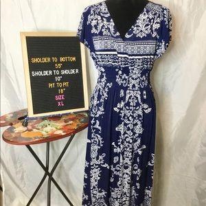 💟Preowned • ACE Fashion size XL • Maxi Dress